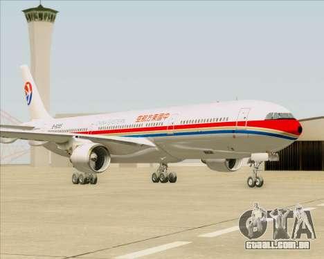 Airbus A330-300 China Eastern Airlines para GTA San Andreas traseira esquerda vista