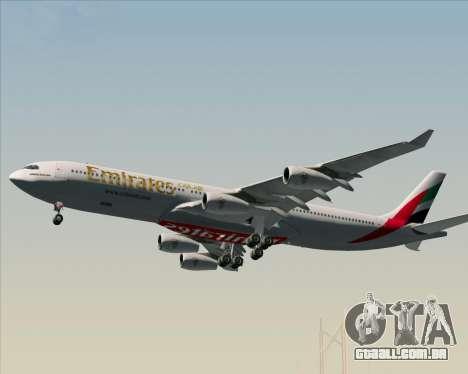 Airbus A340-313 Emirates para as rodas de GTA San Andreas