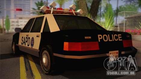 GTA 3 Police Car para GTA San Andreas esquerda vista