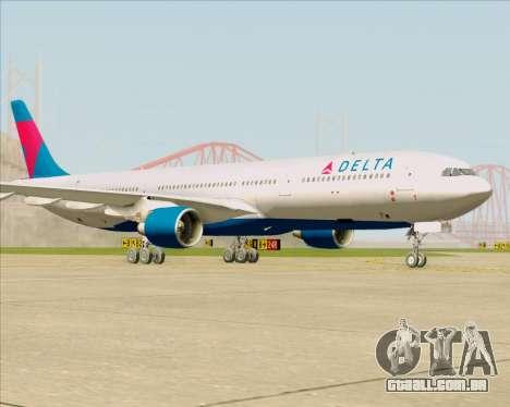 Airbus A330-300 Delta Airlines para GTA San Andreas esquerda vista