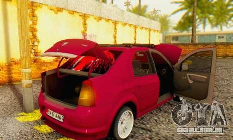 Dacia Logan 1.6 MPI Tuning para GTA San Andreas vista traseira