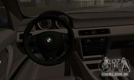 BMW M3 E90 Stance Works para GTA San Andreas traseira esquerda vista