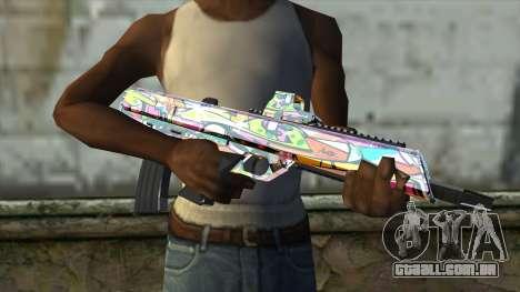 Graffiti Assault rifle para GTA San Andreas terceira tela