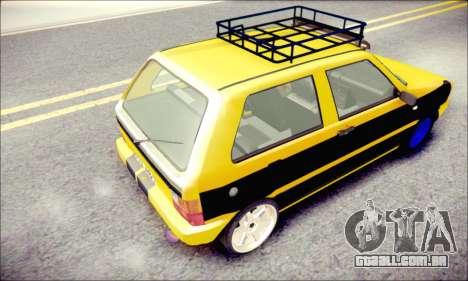 Fiat Uno para GTA San Andreas traseira esquerda vista