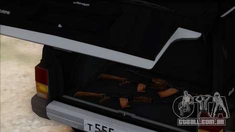 Jeep Cherokee para GTA San Andreas vista interior
