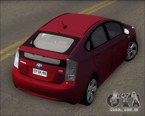 Toyota Prius para GTA San Andreas vista interior