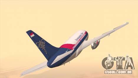 Indonesian Plane Sriwijaya Air para GTA San Andreas traseira esquerda vista