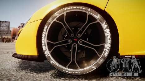 McLaren 650S Spider 2014 [EPM] Michelin v4 para GTA 4 vista de volta