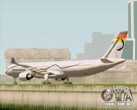 Airbus A330-300 Fly International para GTA San Andreas traseira esquerda vista