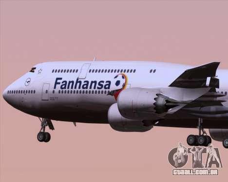 Boeing 747-830 Lufthansa - Fanhansa para vista lateral GTA San Andreas