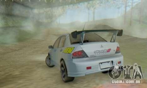 Mitsubishi Lancer Turkis Drift Aem para GTA San Andreas vista interior