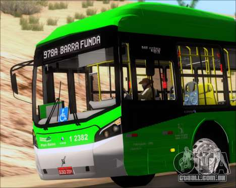Caio Induscar Millennium BRT Viacao Gato Preto para GTA San Andreas vista superior