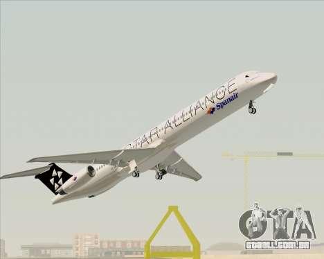 McDonnell Douglas MD-82 Spanair para GTA San Andreas interior