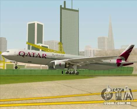 Airbus A330-300 Qatar Airways para o motor de GTA San Andreas