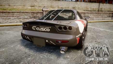 Mazda RX-7 Cusco para GTA 4 traseira esquerda vista