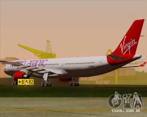 Airbus A330-300 Virgin Atlantic Airways para GTA San Andreas vista direita