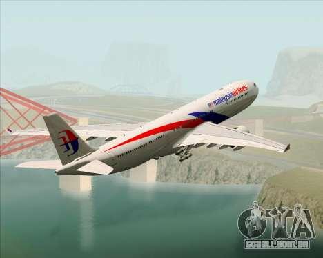 Airbus A330-323 Malaysia Airlines para GTA San Andreas