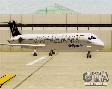 McDonnell Douglas MD-82 Spanair para GTA San Andreas esquerda vista
