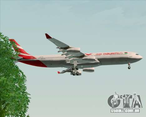 Airbus A340-312 Air Mauritius para as rodas de GTA San Andreas