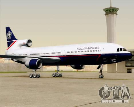 Lockheed L-1011 TriStar British Airways para GTA San Andreas vista superior