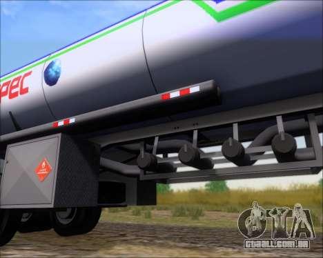Tanque de reboque Carro Copec para GTA San Andreas vista superior