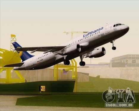 Airbus A320-211 Lufthansa para GTA San Andreas vista inferior