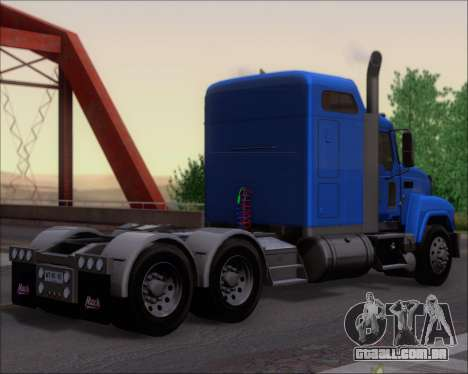 Mack Pinnacle 2006 para GTA San Andreas vista direita