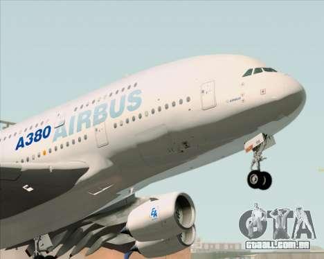 Airbus A380-861 para GTA San Andreas vista traseira