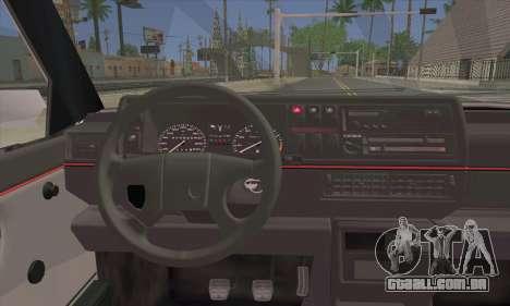 Volkswagen Club Mk2 para GTA San Andreas traseira esquerda vista