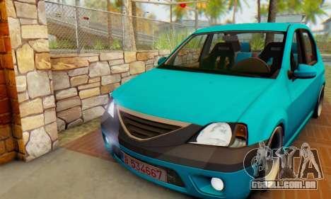 Dacia Logan Elegant para GTA San Andreas esquerda vista