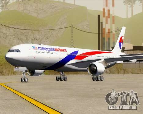 Airbus A330-323 Malaysia Airlines para GTA San Andreas esquerda vista