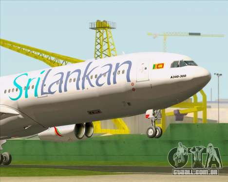 Airbus A340-313 SriLankan Airlines para GTA San Andreas interior