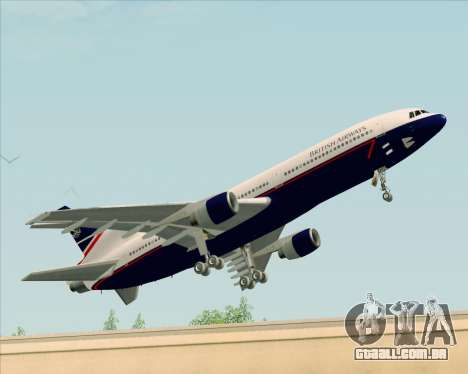 Lockheed L-1011 TriStar British Airways para GTA San Andreas esquerda vista