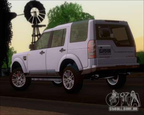 Land Rover Discovery 4 para GTA San Andreas esquerda vista