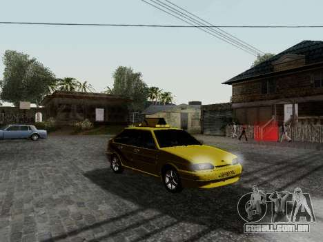 VAZ 2114 TMK afterburner para GTA San Andreas esquerda vista