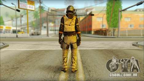 Mercenário (SC: Blacklist) v2 para GTA San Andreas segunda tela