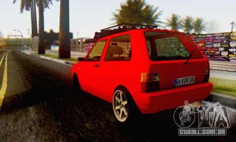 Fiat Uno para GTA San Andreas esquerda vista