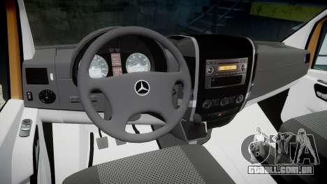 Mercedes-Benz Sprinter 313 cdi para GTA 4 vista de volta