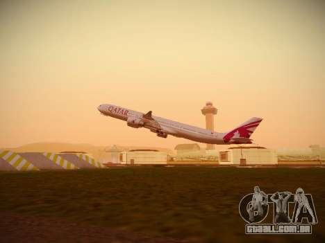 Airbus A340-600 Qatar Airways para GTA San Andreas interior