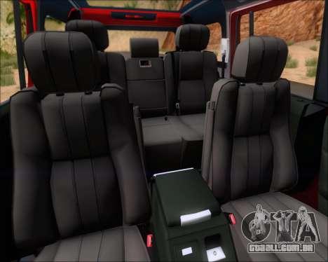 Land Rover Discovery 4 para o motor de GTA San Andreas
