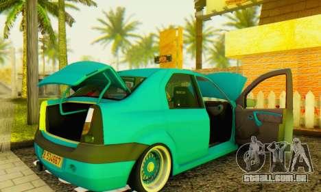 Dacia Logan Elegant para GTA San Andreas vista direita