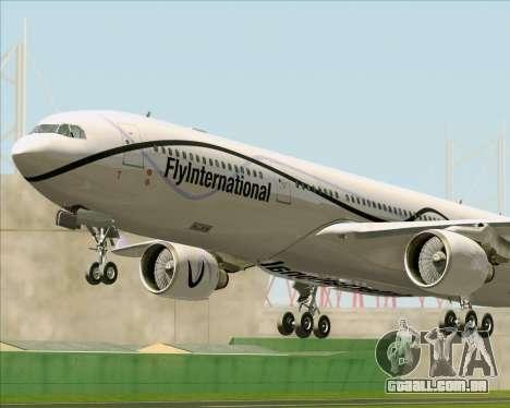 Airbus A330-300 Fly International para as rodas de GTA San Andreas