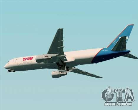 Boeing 767-300ER F TAM Cargo para GTA San Andreas vista traseira
