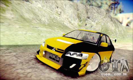 Mitsubishi Lancer Turkis Drift para GTA San Andreas esquerda vista