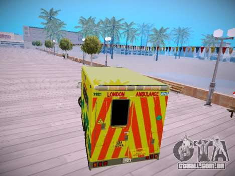 Mercedes-Benz Sprinter London Ambulance para GTA San Andreas vista direita