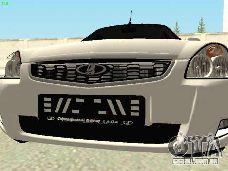 Lada 2172 Priora para GTA San Andreas vista interior
