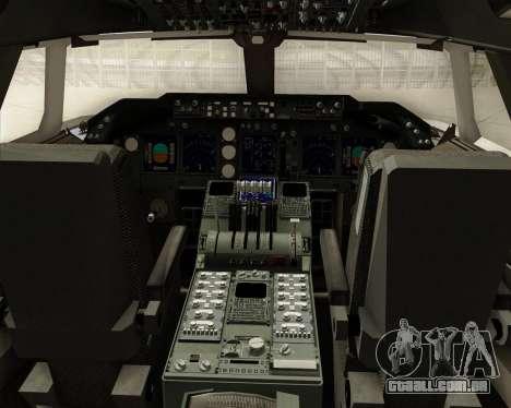 Boeing 747-8 Cargo Cargolux para GTA San Andreas interior