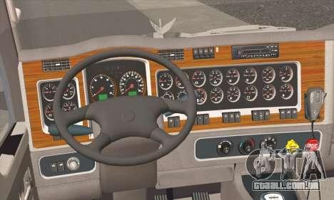 Kenworth T600 para GTA San Andreas traseira esquerda vista