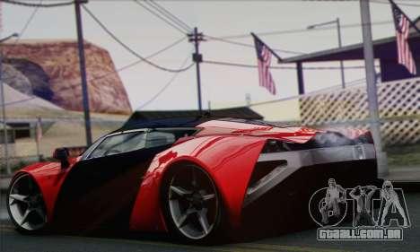 Marussia B2 para GTA San Andreas esquerda vista