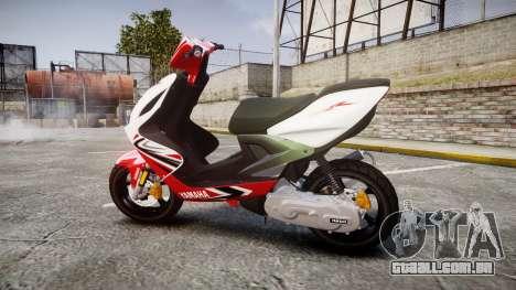 Yamaha Aerox para GTA 4 esquerda vista